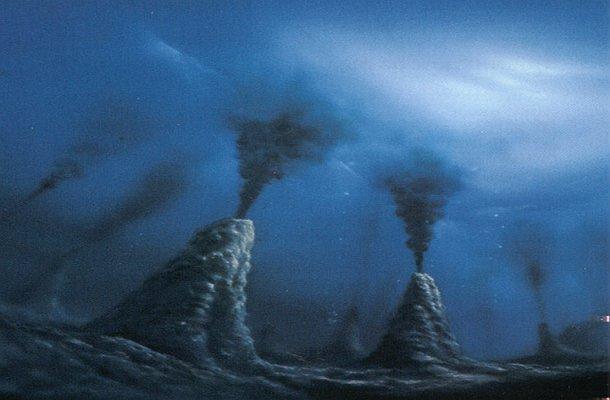 Подземные океаны Черный курильщик